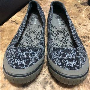 Merrell women loafer size 10 blue gray